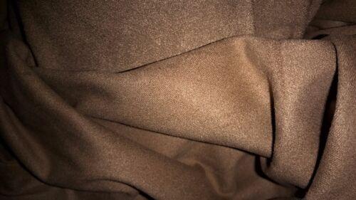 tissu epais  lourd et extensible daim lisse velours  col marron taupe 50x140 cm,