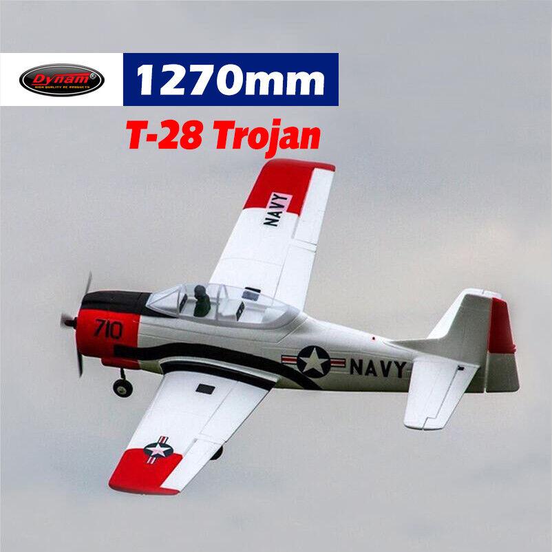 Dynam T28 Trojan rosso 1270mm Wingspan - SRTF
