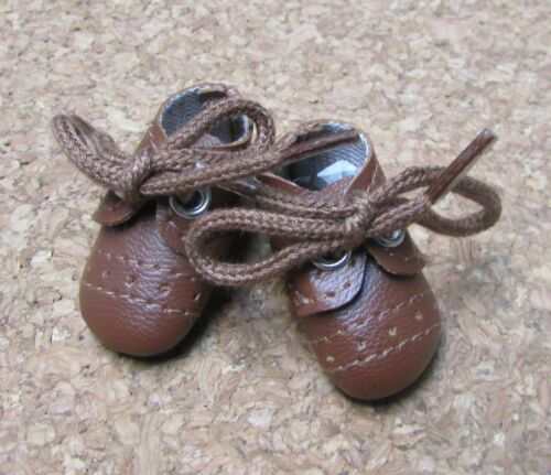 Doll Shoes 37mm BROWN Oxfords