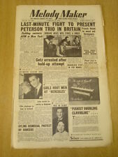 MELODY MAKER 1954 FEBRUARY 27 HAROLD FIELDING STAN GETZ RONNIE SCOTT ORCHESTRA