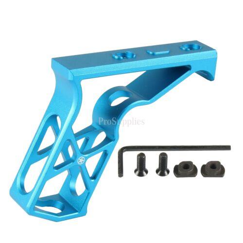 M-LOK Aluminum Foregrip Skeletonized Full Size Angled Grip handstop BLUE