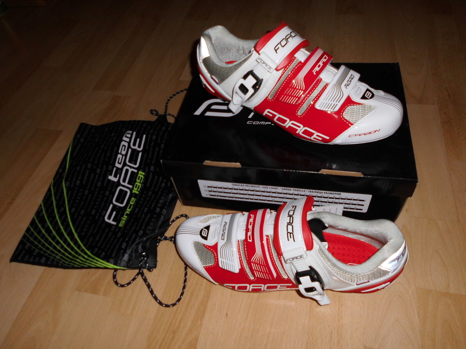 Rennrad Rennrad Rennrad Schuhe Force Carbon  road gr. 44, weiss Neu, andere   grosse  nach Frage 85db0b