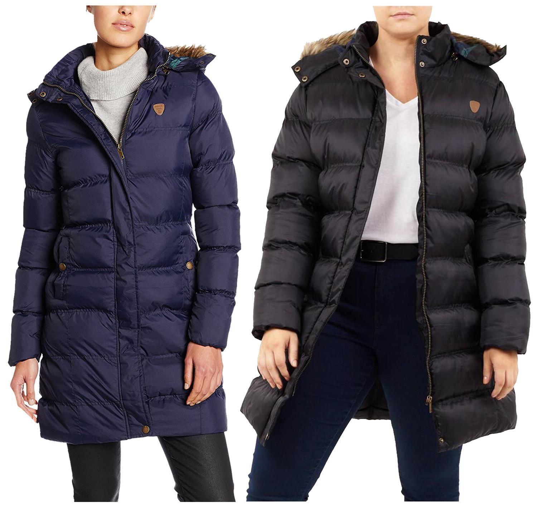Új Ladies Plus Size Bélelt Púpos Puffer Faux Fur Hood Téli kabát kabátok 18-24