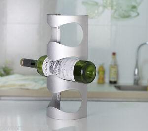 New-European-Fashion-Creative-Stainless-Steel-3-Bottles-Wine-Rack-Holder-amp