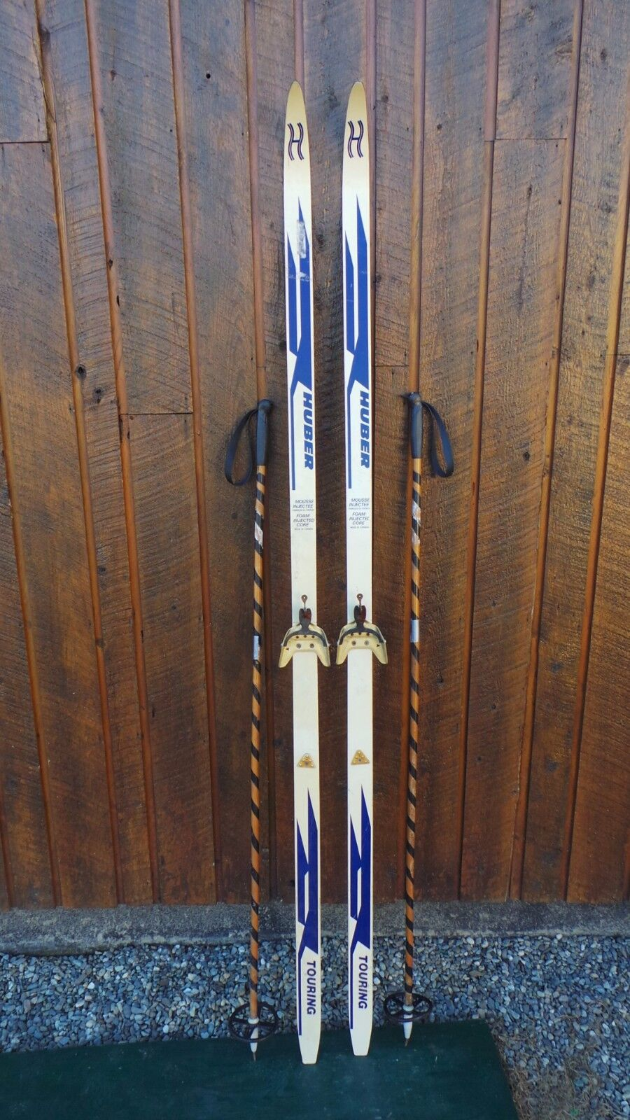 Ready to Use Cross Country 79  Long HUBER 205 cm Skis +  Poles