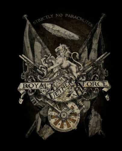 Royal Aether Force Steampunk Gothic Alchemy Empire Large Metal//Steel Wall Sign