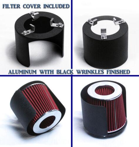 BLACK AIR INTAKE KIT for 2006-2009 CHEVROLET TRAILBLAZER 4.2 4.2L FILTER COVER