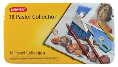 mixed media DERWENT PASTEL COLLECTION TIN of soft smooth various sizes