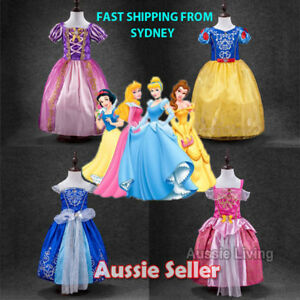 Kids-Girls-Princess-Costume-Fairytale-Dress-Up-Rapunzel-Cinderella-Aurora-Sofia