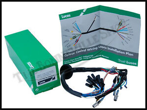 genuine lucas norton commando 750 850 headlight wiring harness pn rh ebay com Norton Commando 961 norton commando wiring harness installation
