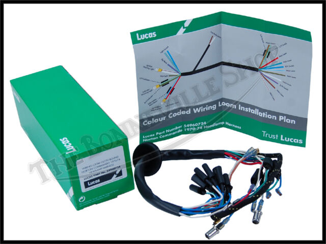 Genuine Lucas Norton Commando 750 850 Headlight Wiring Harness Pn  54960724