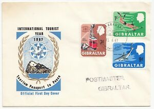 Gibraltar-15-6-1967-International-Tourist-Year-Set-On-Official-FDC