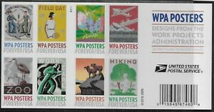 US-Scott-5180-89b-DOUBLE-SIDED-Booklet-Pane-Plate-P1111-2017-WPA-VF-MNH