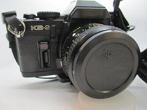 Sears KS-2 KS2 35mm SLR film camera w/ Zoom Lens PK Mount Tested and Working