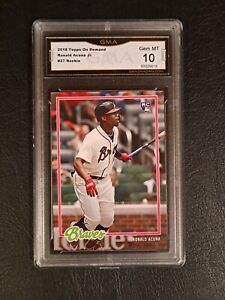 GEM MINT 10 RONALD ACUNA JR 2018 TOPPS ON DEMAND rookie #27 RC PSA comp