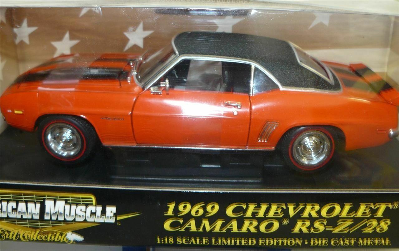 1 18, 1969 Camaro Z 28, Orange, Chase Voiture, Très difficile à trouver