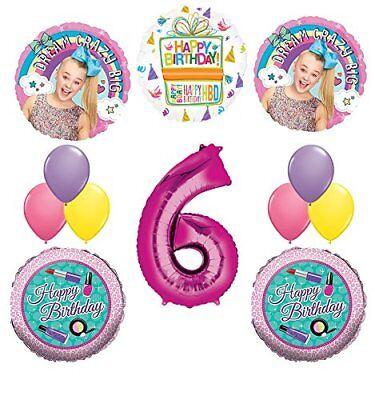 JOJO SIWA Party Supplies Birthday Balloon Decoration Bundle For 8th Birthday