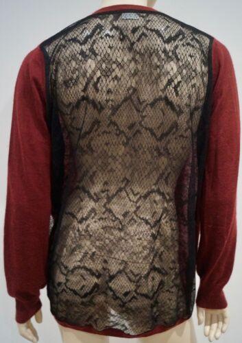 Top Burgundy Neckline Cardigan V Ultra Cashmere Black Ahilya Rear Red Lace Fine 6YqwxdvPS