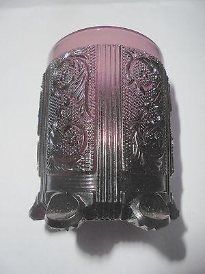 Trendmarkierung Kleiner Preßglas Becher Violett Amethyst Purple Pressed Glass Little Cup 6cm