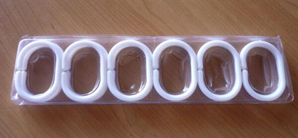 12 Witte Douchegordijn Ringen Haken Hangers Nieuw
