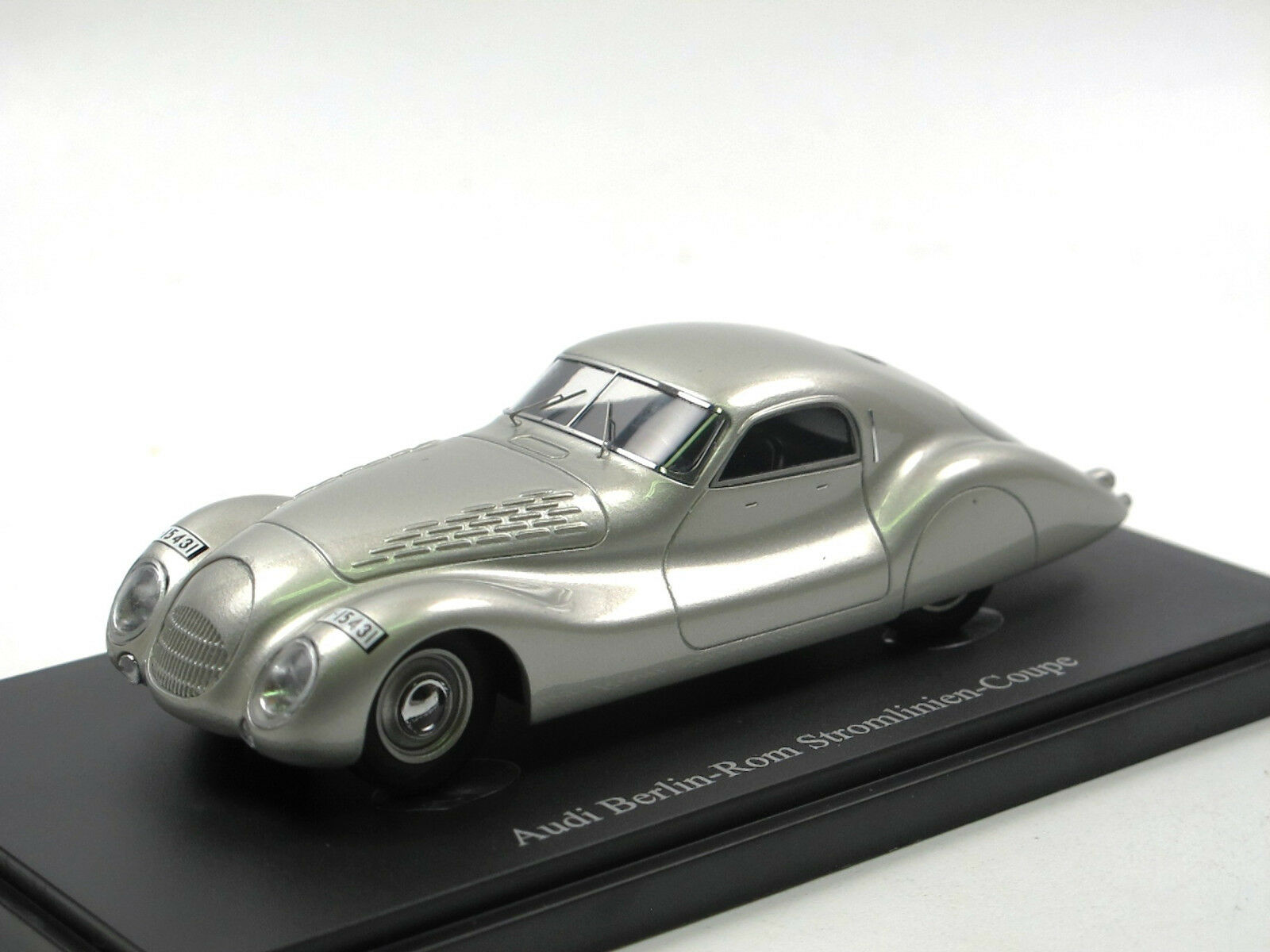 Autocult 04018 - 1936 audi stromlinien coupé - silber - berlin - 1 43 begrenzt