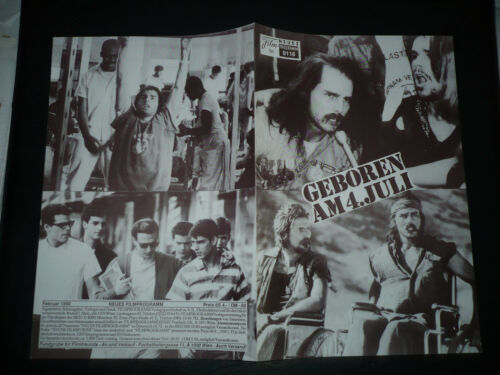 BORN ON THE FOURTH OF JULY orig Austrian Film program Cruise Oliver Stone