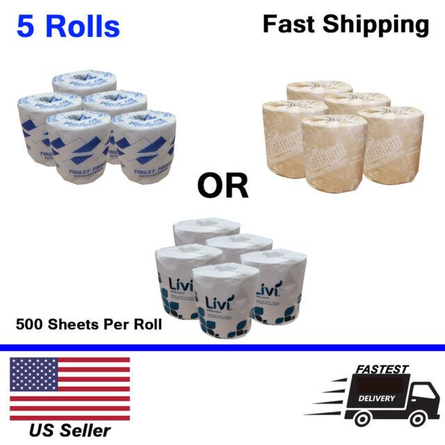 USA 12 Pack Toilet Paper Bath Tissue Bathroom Premium White Soft