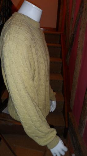 Xxl in maglia di a Maglioncino lavorato uomo da senape in Dehavilland 100 pallida cotone w64Rnqp