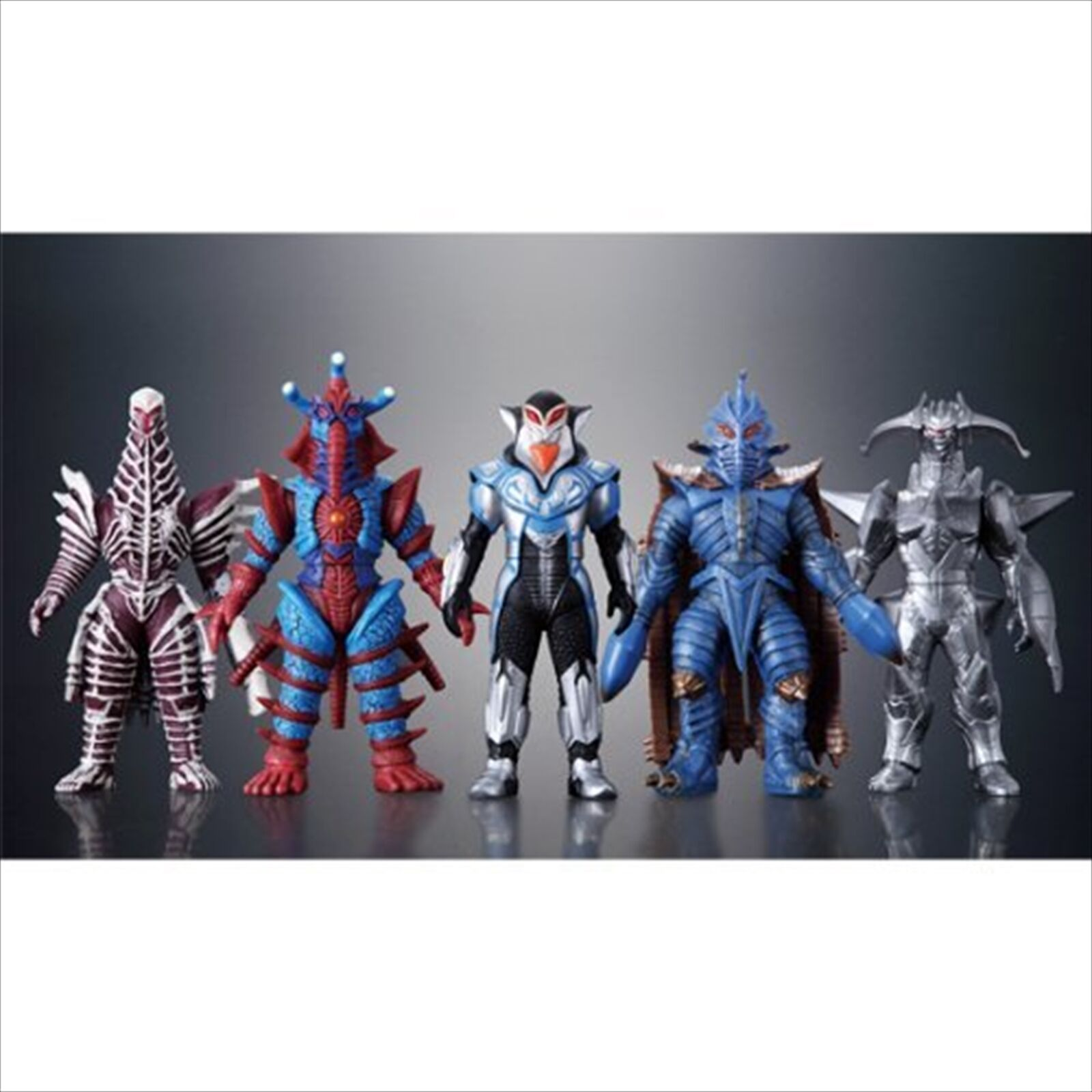 Premium Bandai Limited Ultraman Ultra Zero Fight Darkness Five Set Soft Vinyl