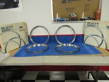 1940's 50's  FORD 14 INCH   WHEEL BEAUTY RINGS SET OF 4  NICE  NEW  1015