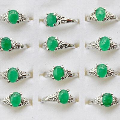 Fashion jewelry Mixed Lots 10pcs Nature Turquois/&Alloy charm Rings Free shipping