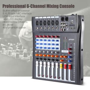 60S-USB-6-canali-Mic-Line-Mixer-audio-Console-di-missaggio-Live-Studi-New-P9B3