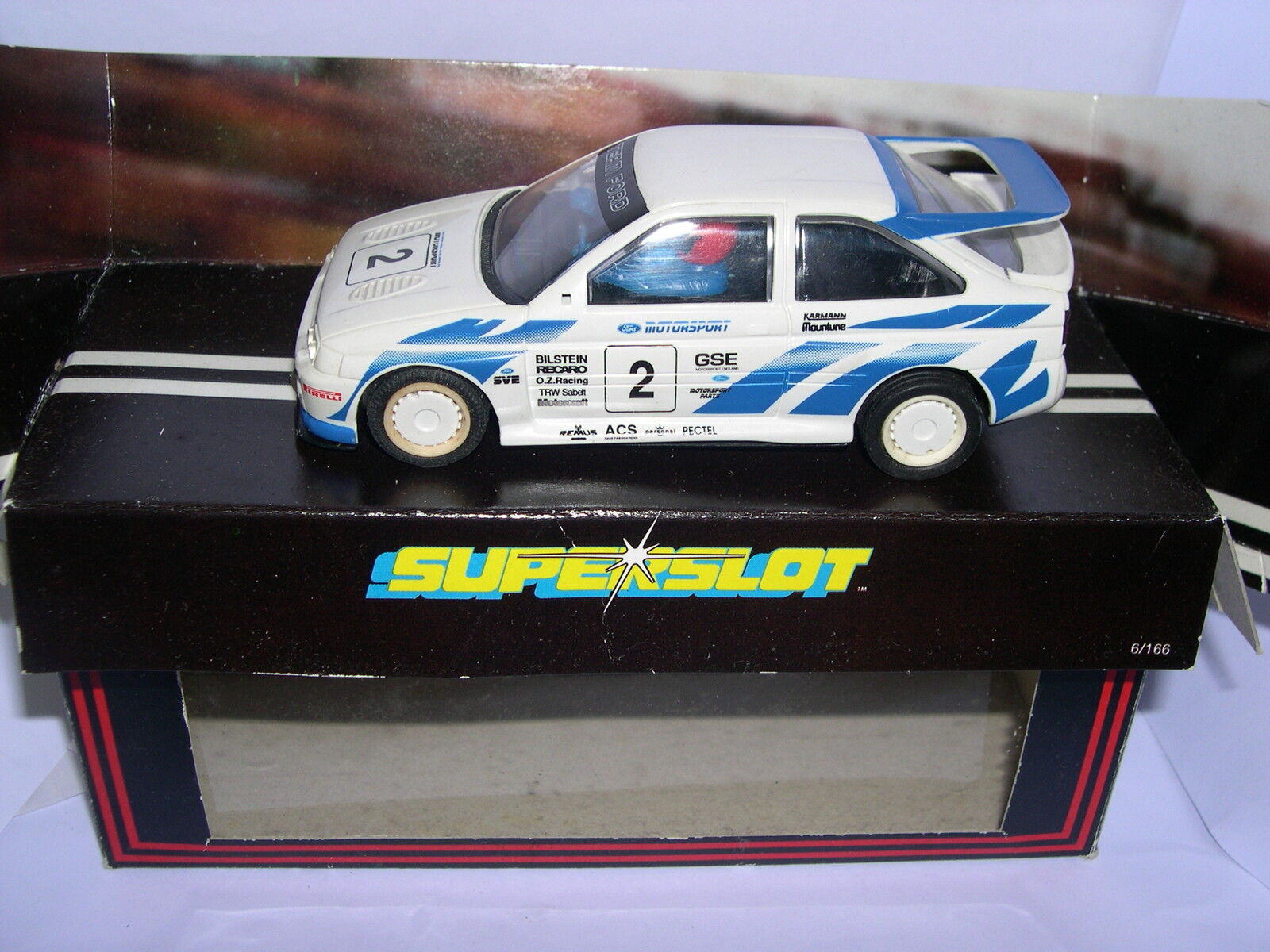 SUPERSLOT H332 FORD ESCORT COSWORTH (NO MIRRORS) SCALEXTRIC UK MB