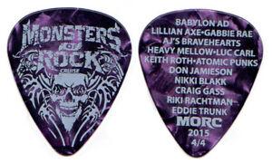 Monsters-Of-Rock-Cruise-Guitar-Pick-2015-Lillian-Axe-Babylon-AD-MORC-Eddie-Trunk
