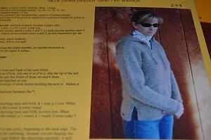 Knitting Pure & Simple Pattern 244 Neck Down Hooded Tunic 36-52