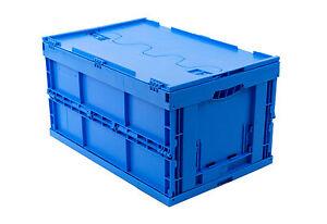 klappbox mit deckel 60 l faltbox klappkiste einkaufsbox stapelkiste lagerkiste ebay. Black Bedroom Furniture Sets. Home Design Ideas