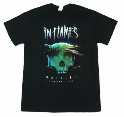 In Flames Battle Summer Tour 2017 Black T Shirt New Official Band Merch