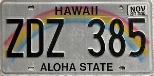 Hawaii-Aloha-State-Rainbow-American-License-USA-Number-Plate-Tag-ZDZ-385