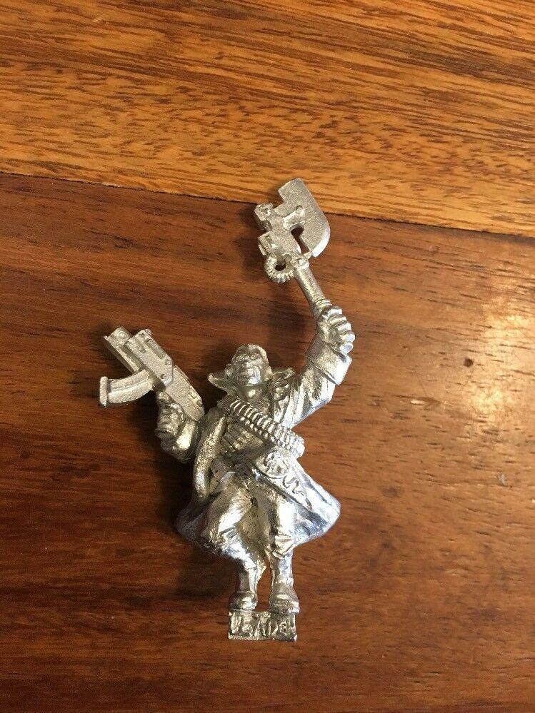 Necromunda Delaque Leader With Bolter And Power Axe Warhammer 40k Metal OOP
