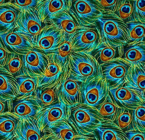 Bird curtains drapes - Handmade Blue Green Metalic Peacock Bird Feather Window