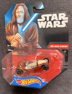 Hot-Wheels-Star-Wars-1-64-scale-die-cast-Obi-Wan-Kenobi-caracter-Coche-Nuevo-Raro