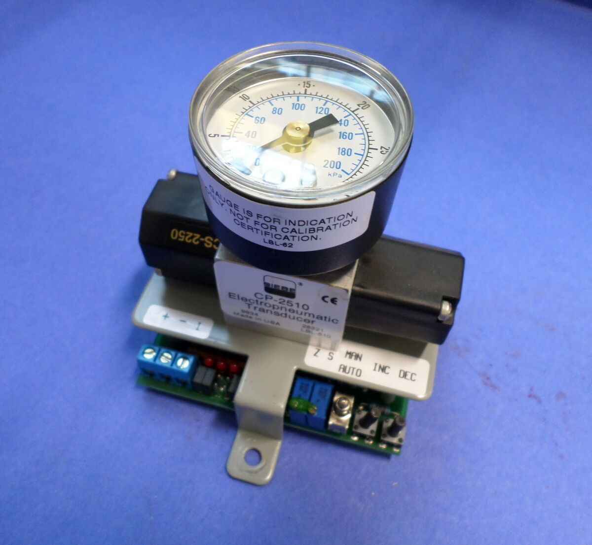 SIEBE 30PSI  ELECTROPNEUMATIC TRANSDUCER  CP-2510 NNB PB
