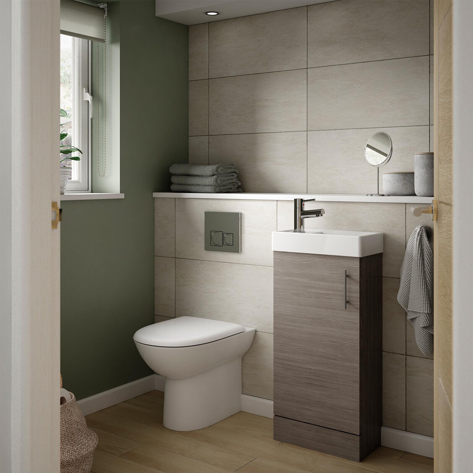 Vault Mobiletto con lavabo compatto Muro Appeso & Da Pavimento 400mm di larghezza