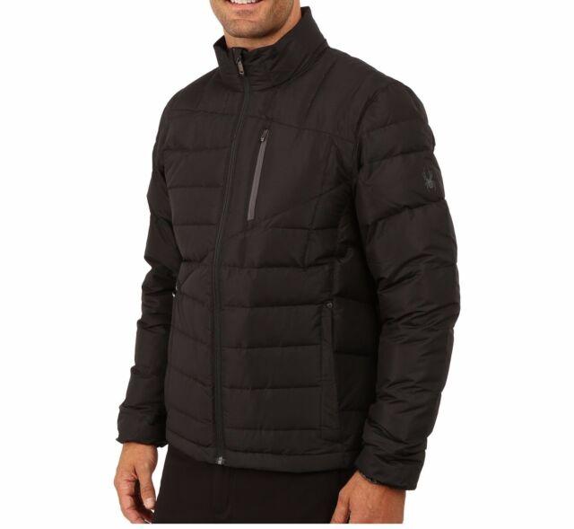 NWT Spyder Men's Dolomite Full Zip Down Jacket Black & Gray NICE!!!  - Pick Size
