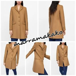 744 Ss19 Ref With Abrigo Buttons New Size Metallic Coat Zara Camel 2064 S 4xwcqzAp