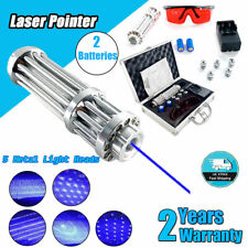 New Blue Laser Pointer Pen 450nm Visible Beam Lighter With 2pcs Batteriesbox Us