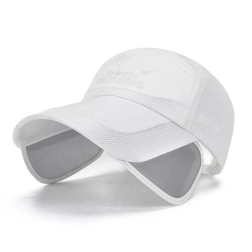 Unisex Wide Brim Sun Visor Casual Sports Pulling Caps Breathable Baseball Cap