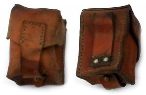 VINTAGE LEATHER AMMO POUCH FITS ANY BELT ARMY SURPLUS small ...
