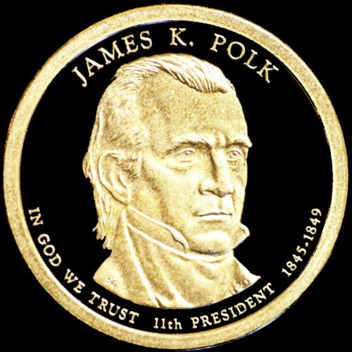 Polk ~ Mint Proof Presidential Dollar from Proof Set 2009 S  James K