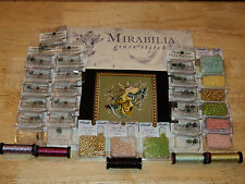 Mirabilia MD80 LILLY OF THE WOODS Pattern, Beads, Kreinik Braid DREAMING FAIRY